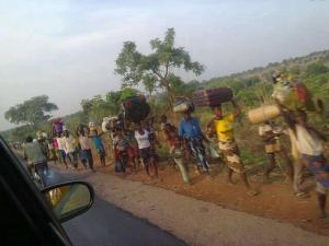 fleeing refugees caused by the fulani invasion of Benue