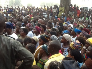 a section of displaced people at the Daudu Internally Displaced people's Camp in Benue