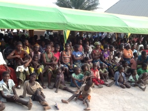 kids and others at the Internally Displaced peoples Camp Daudu, Guma Local , Benue state