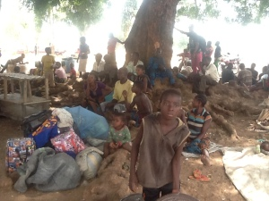 Some of the IDPs sleep under trees due to lack of basic housing and other amenities.